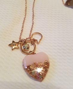 Heart shaped glitter locket